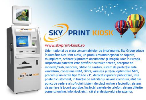 Rezerve plus hartie foto promo sky print